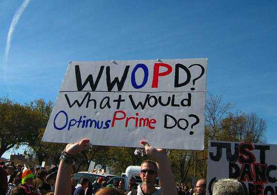 what would optimus prime do sign