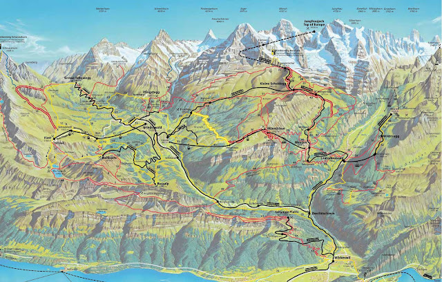 Mapa de Interlaken - visitas