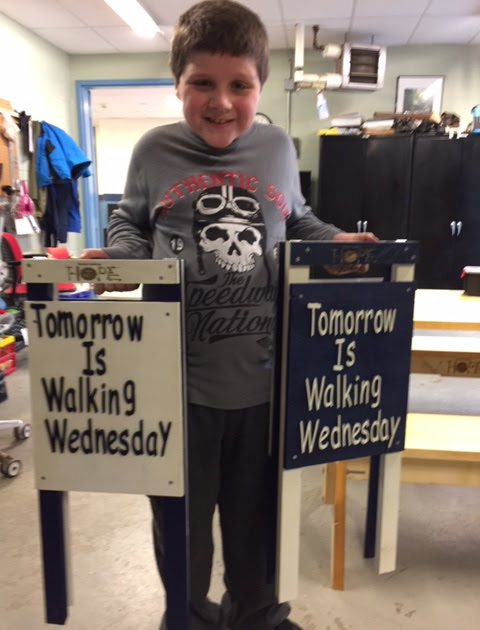 Walking Wednesday Signs Delivered