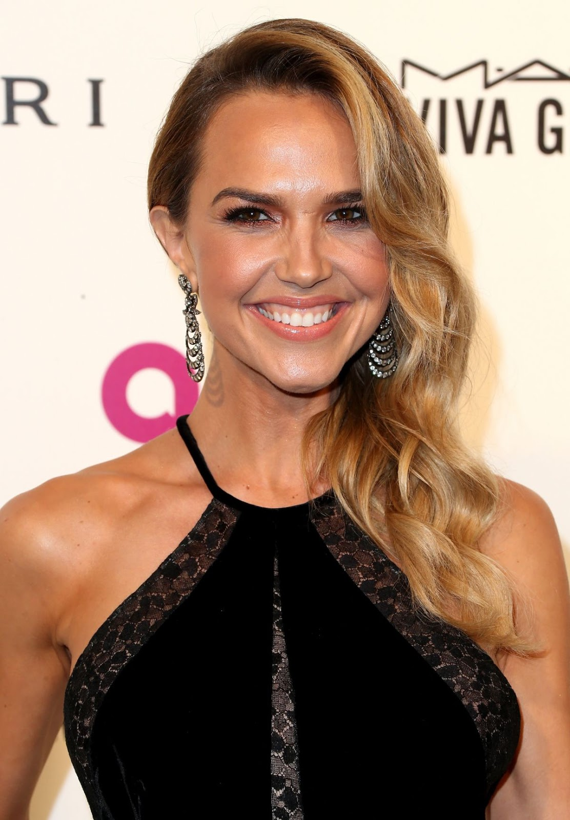 Fifty Shades Freed actress Arielle Kebbel at Elton John Aids Foundation's Oscar Viewing Party