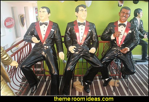 Rat Pack Singer statue  Music bedroom decorating ideas - rock star bedrooms - music theme bedrooms - music theme decor - music themed decorations - bedding with musical notes