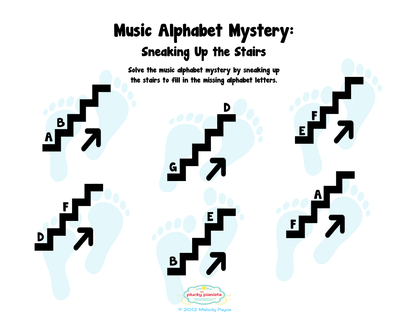 Music-Worksheets-Music-Alphabet-Step-Up-Step-Down-008 | Music ...