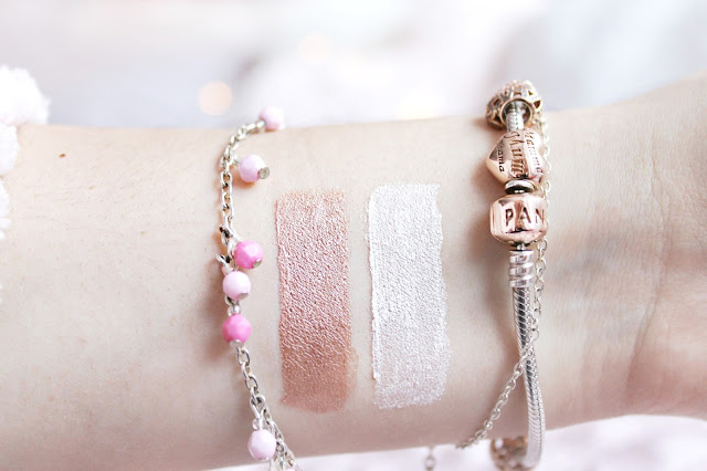 NYX Lid Lingerie eye tint review: Sweet Cloud and White Lace Romance