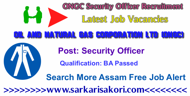 ONGC Security Officer Recruitment 2017 vacancies