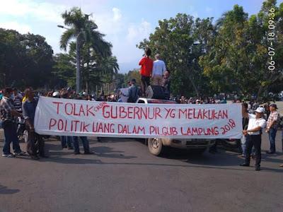 Giliran Kalianda Diguncang Aksi Penolakan Hasil Pilgub Lampung