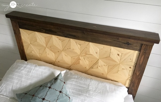 Geometric design headboard