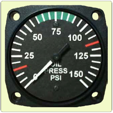 Aircraft systems pressure measuring instruments an analog oil pressure gauge is driven by a bourdon tube oil pressure is vital to engine health and must be monitored by the pilot thecheapjerseys Choice Image
