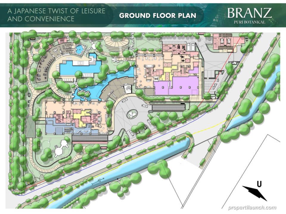 Ground Floor Plan Branz Puri Botanical