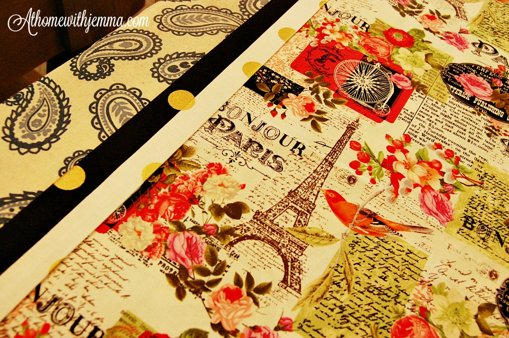Tutorial-sewing-fabric-table runner-At Home With Jemma