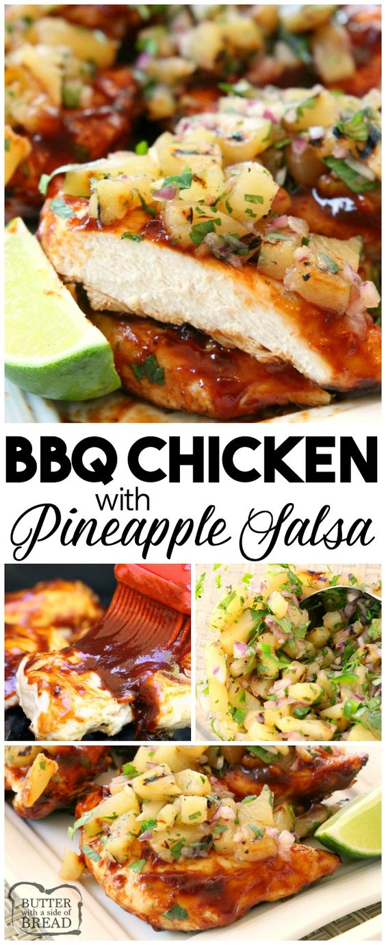 BBQ CHICKEN WITH PINEAPPLE SALSA