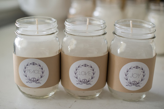 DIY canning jar candle tutorial + FREE printable labels
