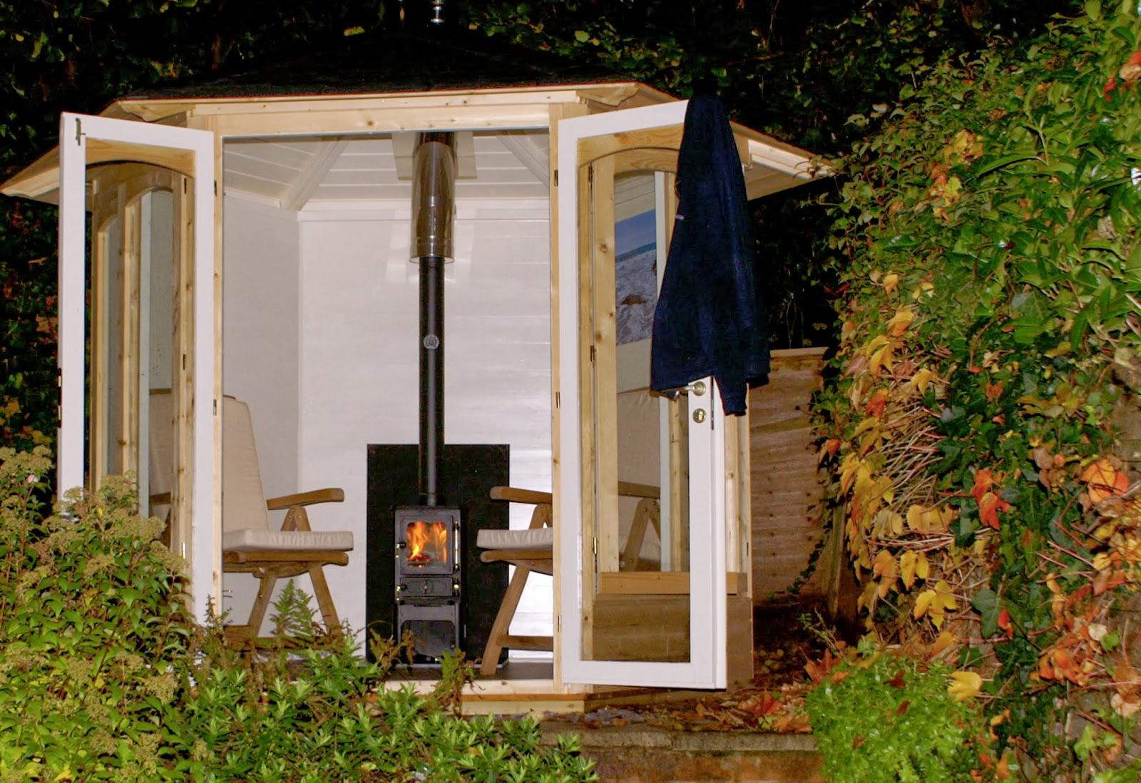 Woodburner Installation In A Summerhouse
