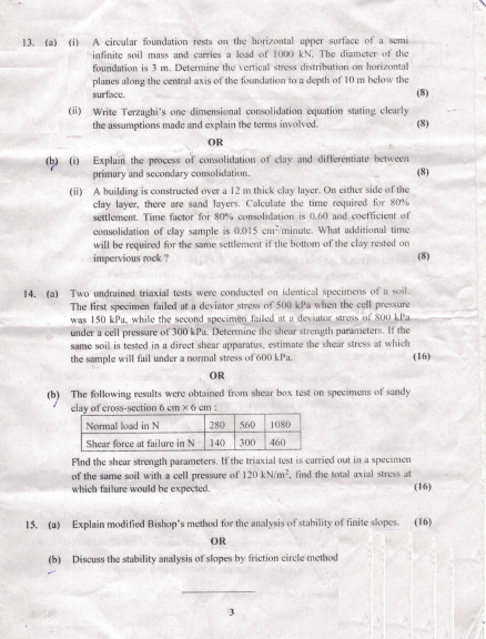 CE2251 Soil Mechanics May June 2016 Question Paper