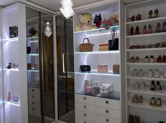 decoração-prateleiras-quarto-menina-led