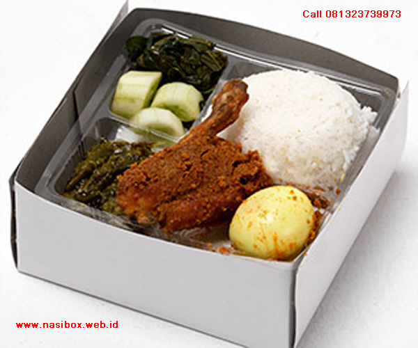 Nasi box ala nasi padang garuda di ciwidey