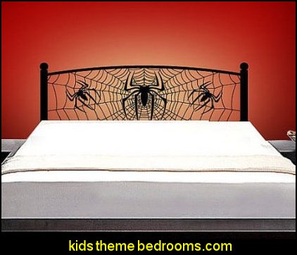 Headboard Vinyl Wall Decal Full Twin Queen Size Wall Decals Spiderman Webbed Spide Spider Web Sticker Home Wall Stcker Bedroom