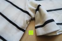 Ärmel: Yidarton Damen Crew Neck Base Gestreiftes Kurz Spaltung Casual T-Shirt Top Bluse