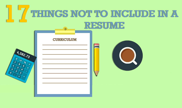17 things not to include in a resume infographic