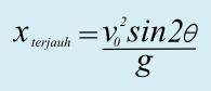 Persamaan jarak terjauh