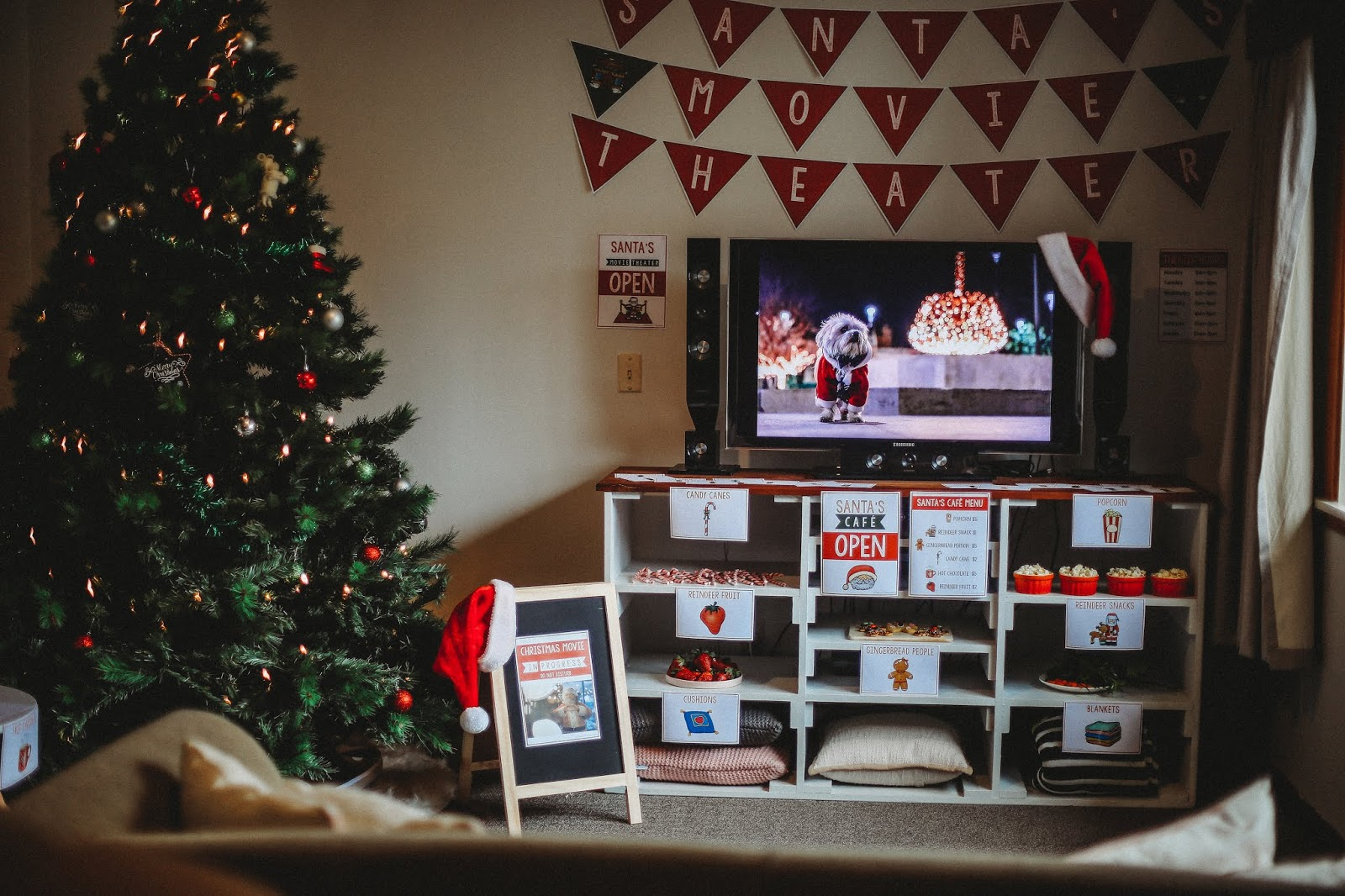Beyond Imagination How To Have A Christmas Movie Day With Santa S Movie Theater