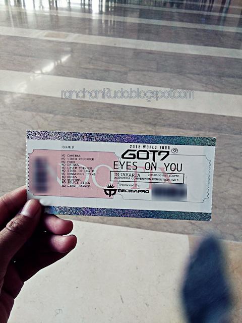 GOT7 Ticket concert Eyes on You