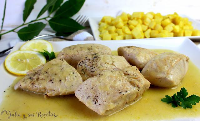 Solomillos de pavo en salsa de limón. Julia y sus recetas