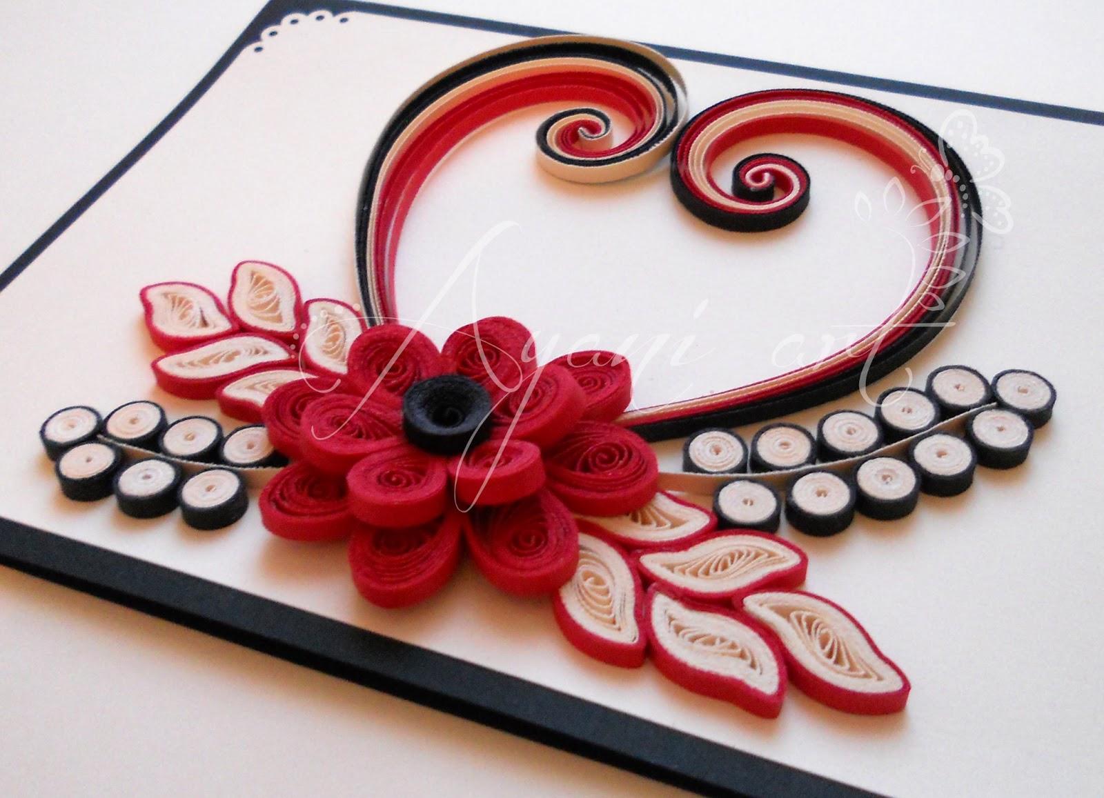 Ayani Art Quilled Valentine Card