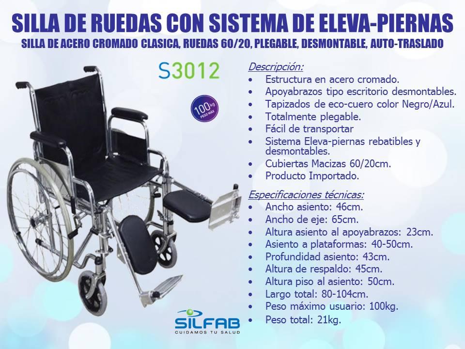 Sillas de ruedas ortopedia beraca 011 2008 8707 sillas de acero clasicas silfab - Sillas de ruedas estrechas ...