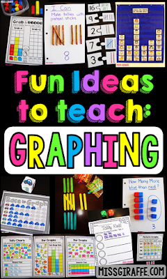 Graphing activities and ideas for first grade or kindergarten that make learning about graphs so much fun! From bar graphs to tally marks to picture graphs - this post has ideas for them all!
