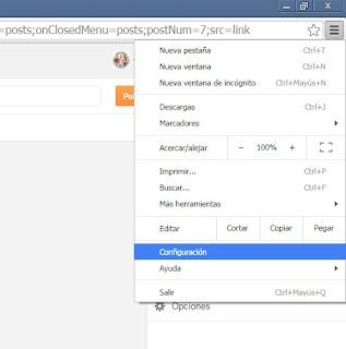 Configuración de Chrome