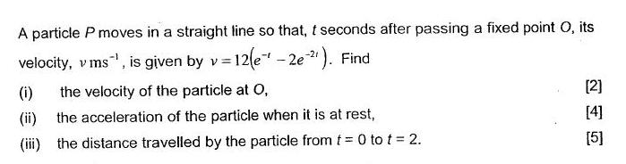 Paper 2 Q8  Calculus Challenging O Level Additional Maths (A