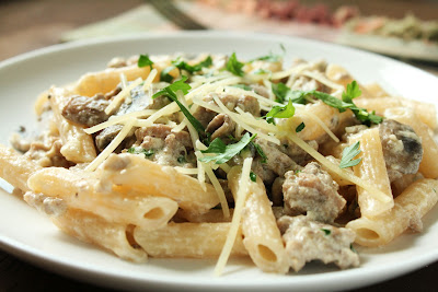 Creamy Italian Turkey Penne with Mushrooms