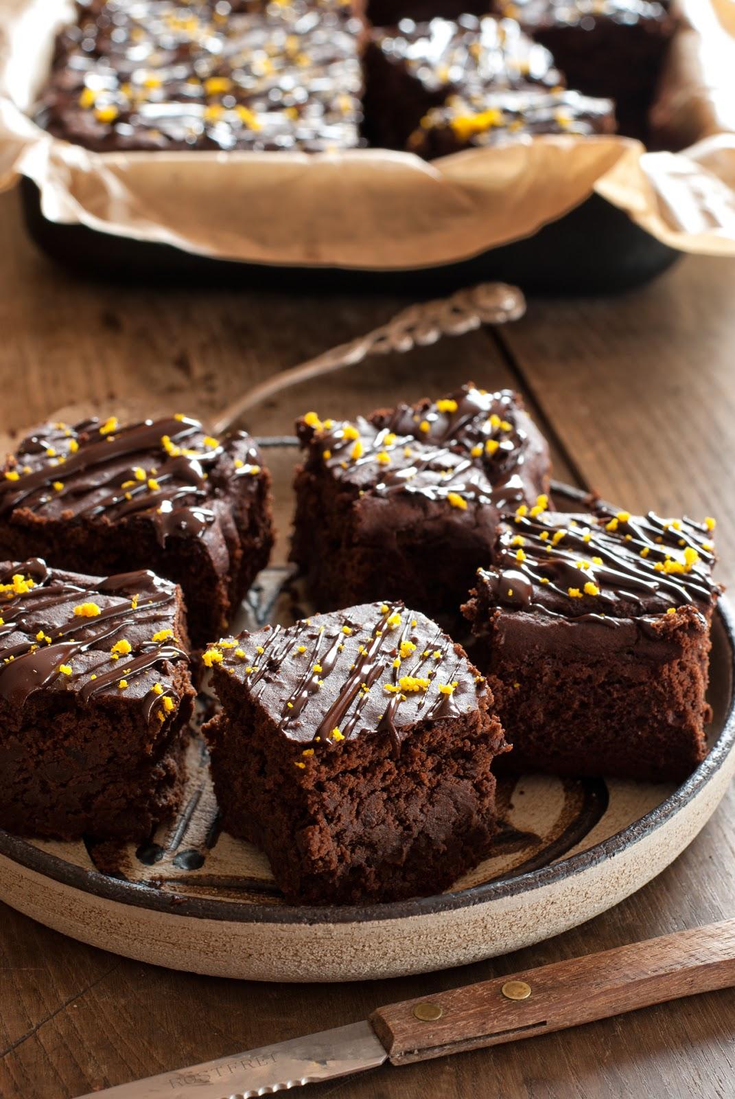 Ciasto czekoladowo-pomarańczowe bez glutenu