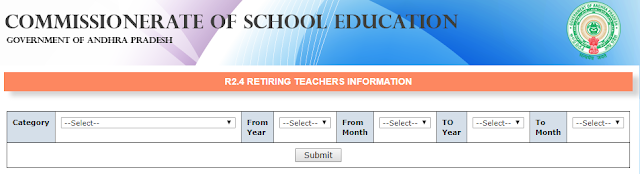 How to Know teachers Retiremt Vacancies in AP Schools - Month wise / Year wise / Cadre wise / School wise