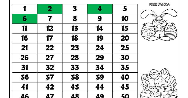 atividade de sequência numérica e números pares para imprimir