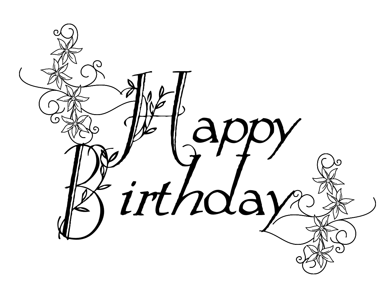 Any Old Craft Flourish Birthday Digi Stamp Freebie