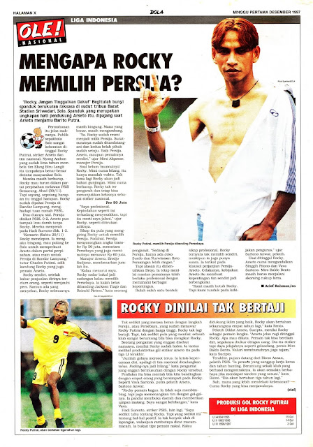 LIGA INDONESIA ROCKY PUTIRAY PILIH PERSIJA JAKARTA
