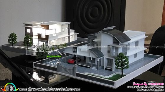 2 different 3d printed home designs