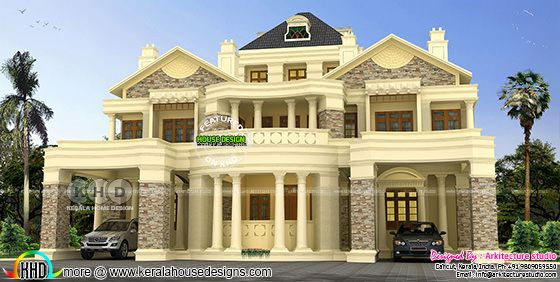 Decorative style Colonial home rendering