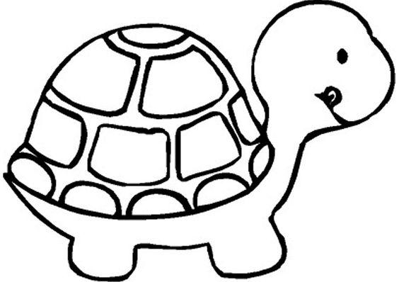 Tranh tô màu con rùa cho bé ba tuổi