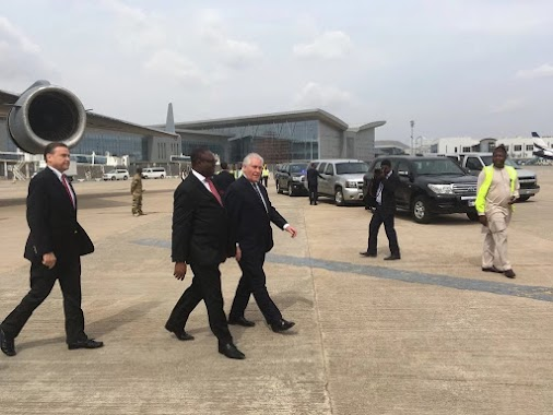 Rex Tillerson arrived in Abuja, Nigeria The US Secretary of State, Rex Tillerson has arrived in Abuja...