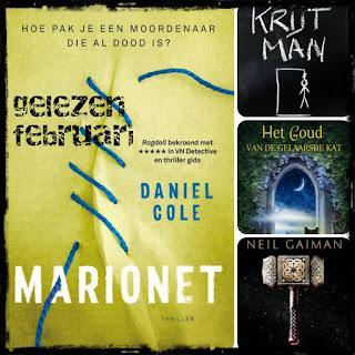 Daniel Cole, Neil Gaiman, CJ Tudor, Liesbeth Jochemsen, Godijn, LS, AW Bruna, Karakter
