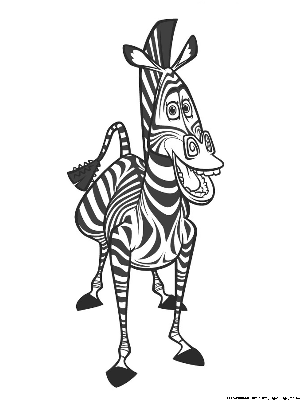 Images Of Zebra Coloring Pages Madagascar And Lion Marty