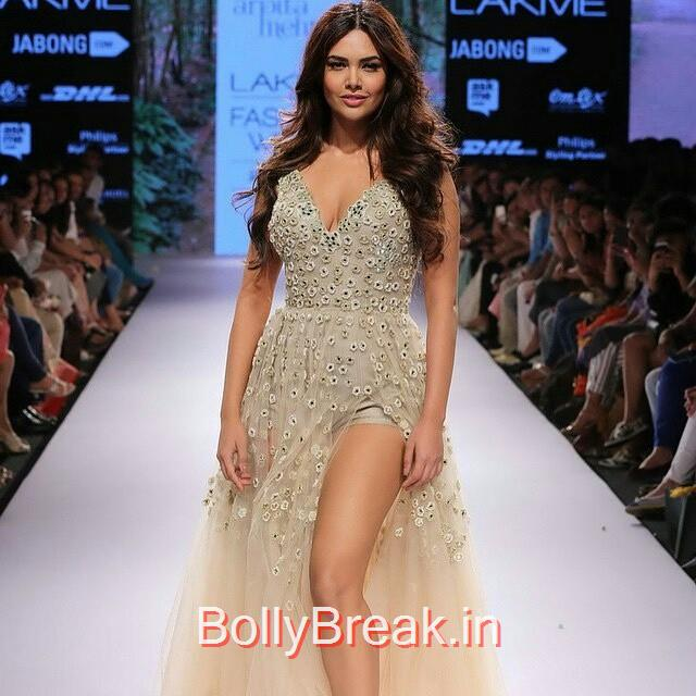 re gran n , from @universalbollywood - esha gupta on the ramp for designer arpita mehta on day four of lakmé fashion week ❤️ esha gupta , lakme fashion week , arpita mehta ,, Esha Gupta in Arpita Mehta Dress - Lakme Fashion Week 2015