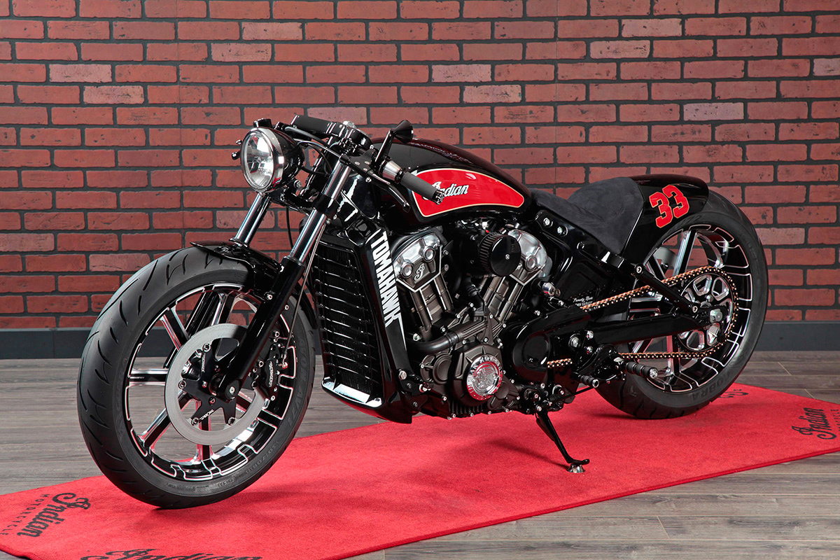 tomahawk - v-twin garage indian scout ~ return of the cafe racers