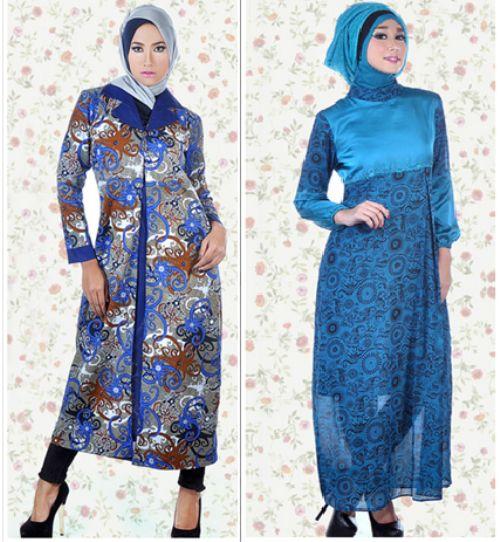 Model Gamis Batik Modern Untuk Remaja Muslimah
