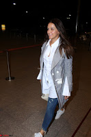 Neha Dhupia in Shirt Denim Spotted at Airport IMG 3539.JPG