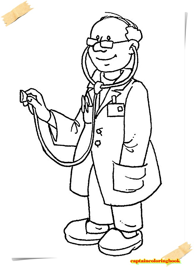 doctor coloring pages ebook download - Doctor Coloring Pages