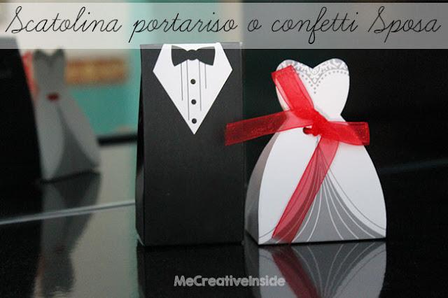 tutorial diy Scatolina portariso o portaconfetti sposa pdf ME creativeinside