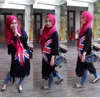 Jual Online Hijab Englang Hitam Model Busana Muslim Terbaru diJakarta